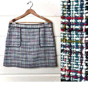 Loft • Tweed Mini Skirt